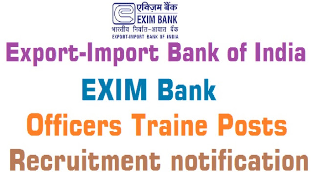 EXIM Bank, Officers Trainees,recruitment/Export-Import Bank of India