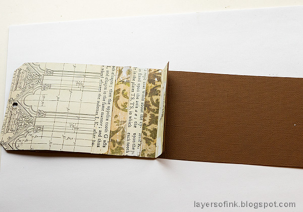 Layers of ink - Waterfall Card Tutorial by Anna-Karin Evaldsson. Assemble the waterfall.