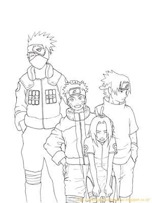 Mewarnai Gambar Naruto - 3