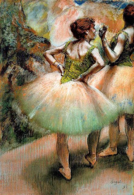 Эдгар Дега - Танцовщицы,розовое и зелёное (1894)