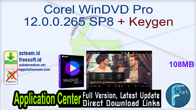 Corel WinDVD Pro 12.0.0.265 SP8 + Keygen_ ZcTeam.id