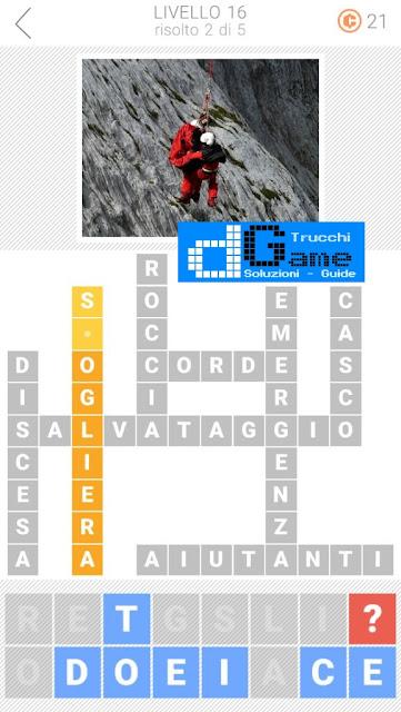 Soluzioni Parole collegate 3: Cruciverba | Livello 16