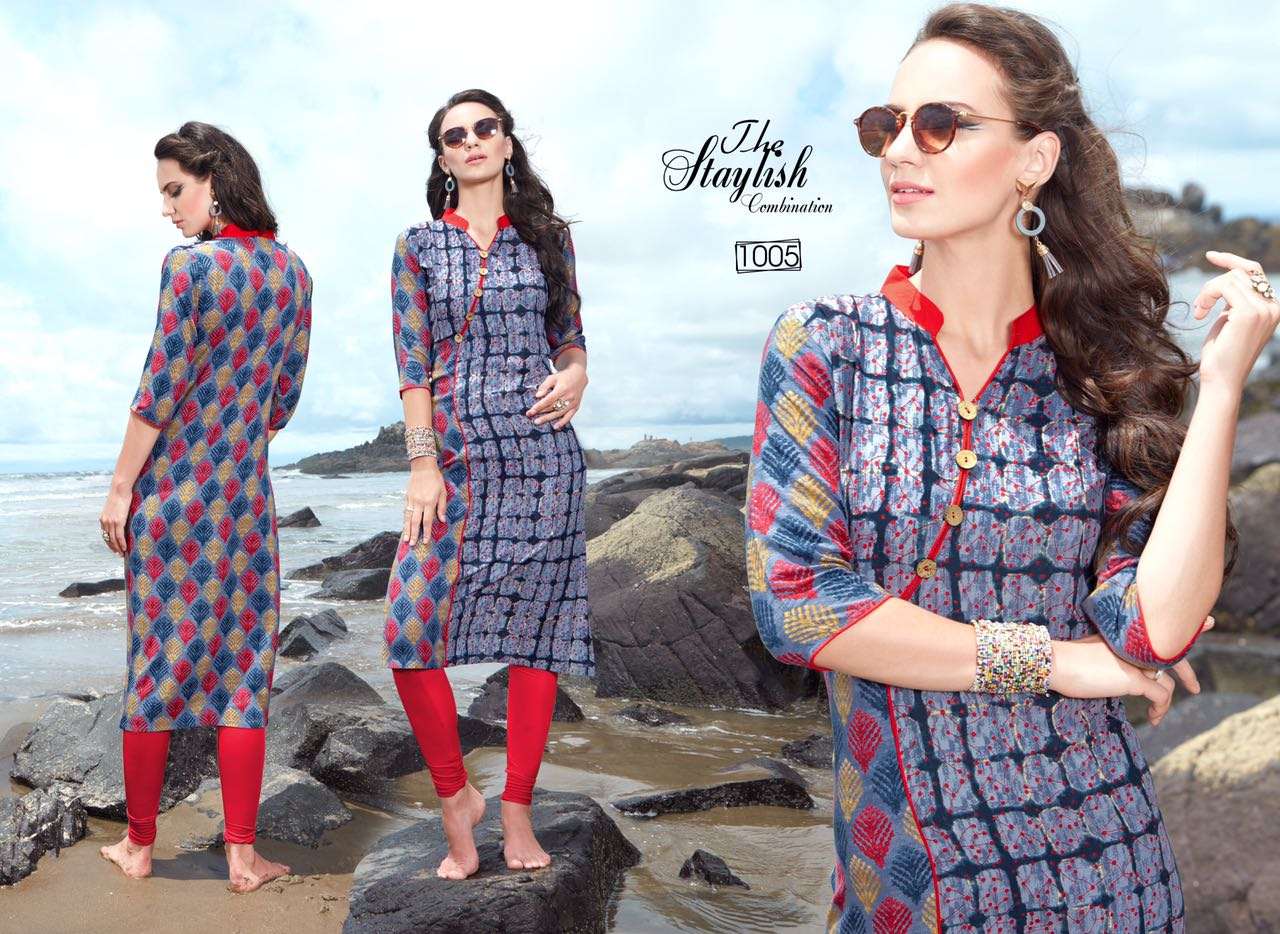 GLAMOUR-New Arrival Designer Rayon Kurti For Women