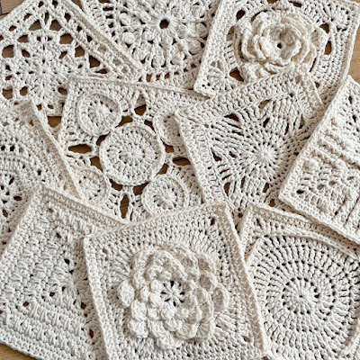 Crochet squares  - patterns from Granny Square Flair by Shelley Husband