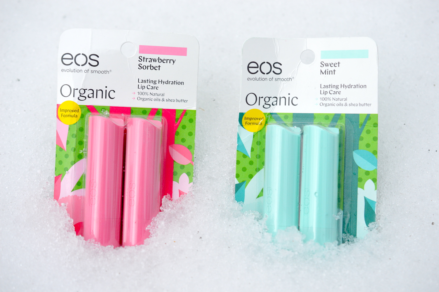 EOS organic lip balm stick review