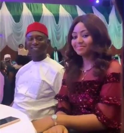 Video: Regina Daniels blushes as Ned Nwoko stares at her in admiration at an event