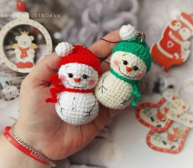 Малыши снеговиши: схема крючком