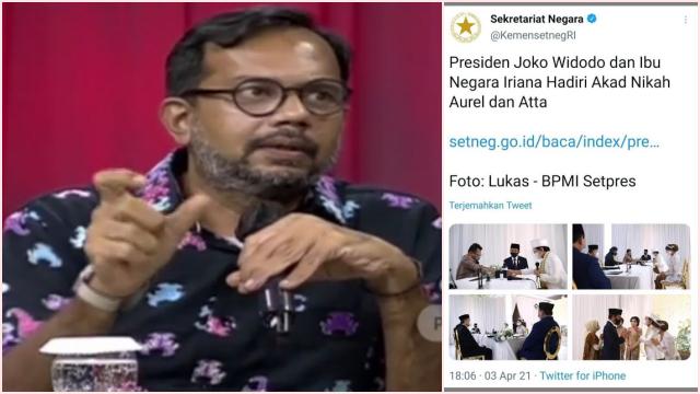Soroti Atta-Aurel, Haris Azhar Tantang Setneg Siarkan juga Nikahan Warga Biasa
