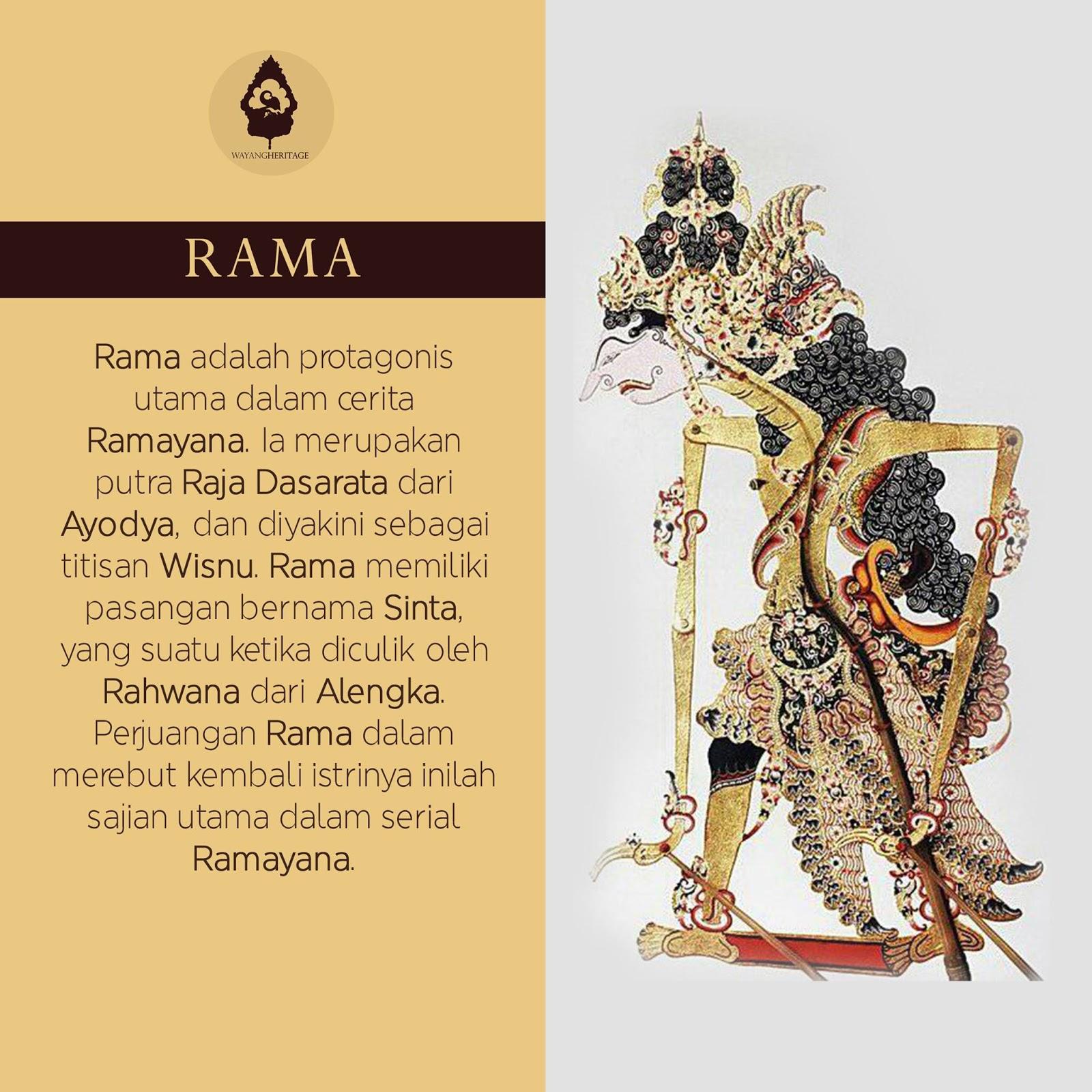 Kemudian dipahat dengan menggunakan besi yang ujungnya lancip atau runjing. Gambar Wayang Ramayana Dan Kisah Rama Shinta