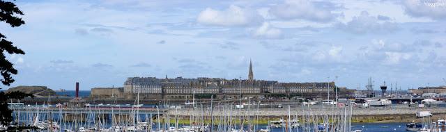 Vista panoramica su Saint Malo dalla Cité d'Aleth