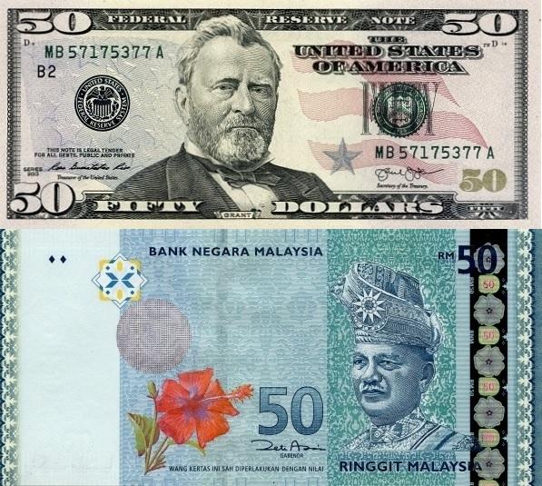 Tukaran Mata Wang Kadar Tukaran Wang Pertukaran Dolar Amerika Syarikat Usd Kepada Ringgit Malaysia Myr