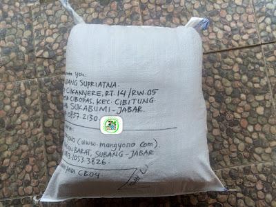 Benih Padi Pesanan  ENDANG SUPRIATNA Sukabumi, Jabar.    (Setelah di Packing).