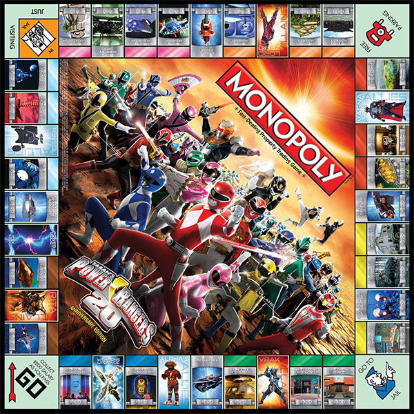Henshin Grid: Power Rangers Monopoly and Trivial Pursuit boxes