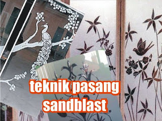 teknik pasang sandblast sendiri