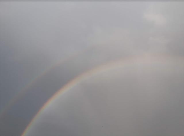 MrMBB333, OMG Science, Double Rainbows, Cafe Press, Double Rainbow, Rainbow, Cocoa Beach Pictures, Melbourne, Florida, cu on the beach,