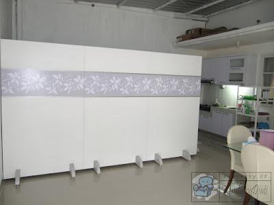 Partisi Portable  Bongkar Pasang Untuk Menutupi Tempat Jemuran Diruang Tengah + Furniture Semarang