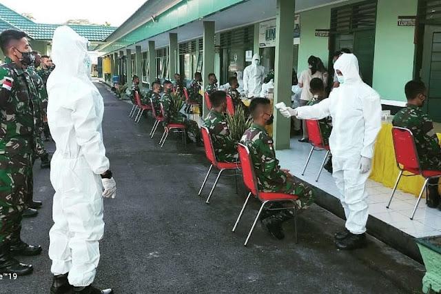 448 Prajurit Kostrad di Perbatasan RI-Malaysia Ikuti Rapid Test Covid-19
