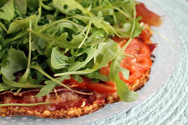 Pizza de coliflor (con base de coliflor)