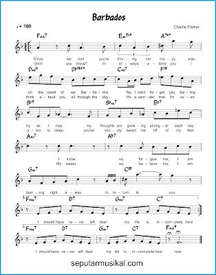Barbados chords jazz standar