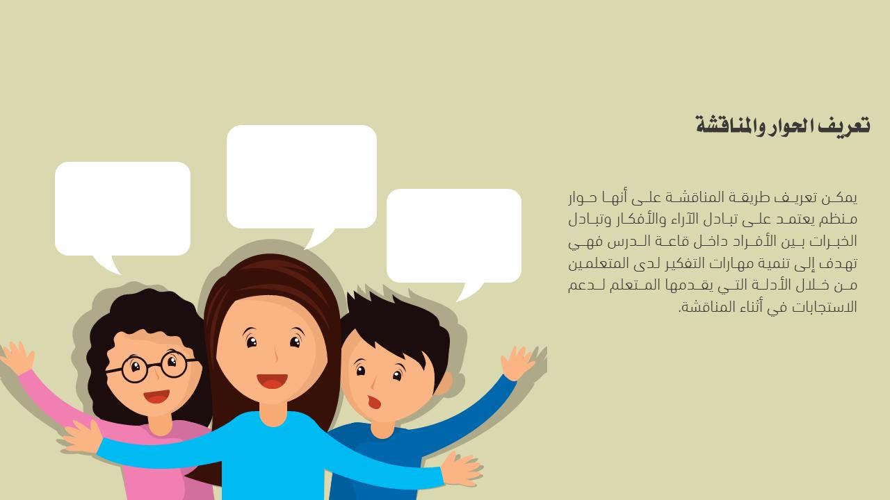 بوربوينت عن استراتيجية الحوار والمناقشة
