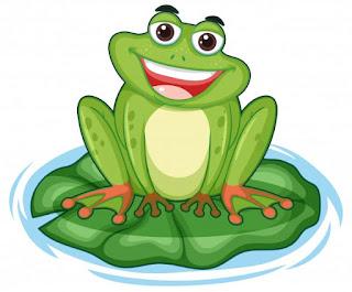La rana feliz que sonríe