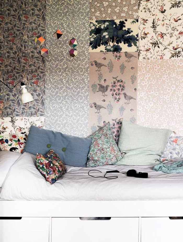 Botanical wallpaper in children's rooms