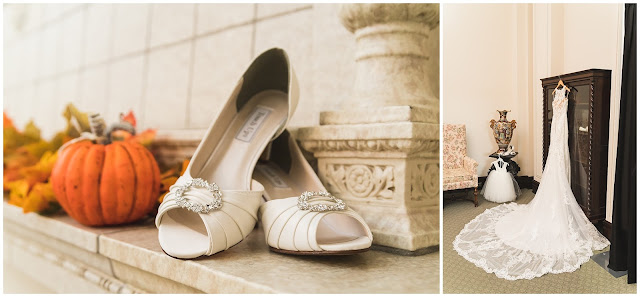 photos of wedding shoes and dress