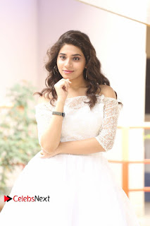 Actress Tejaswini Pictures in White Dress at Lachhi Teaser Launch  0231.JPG