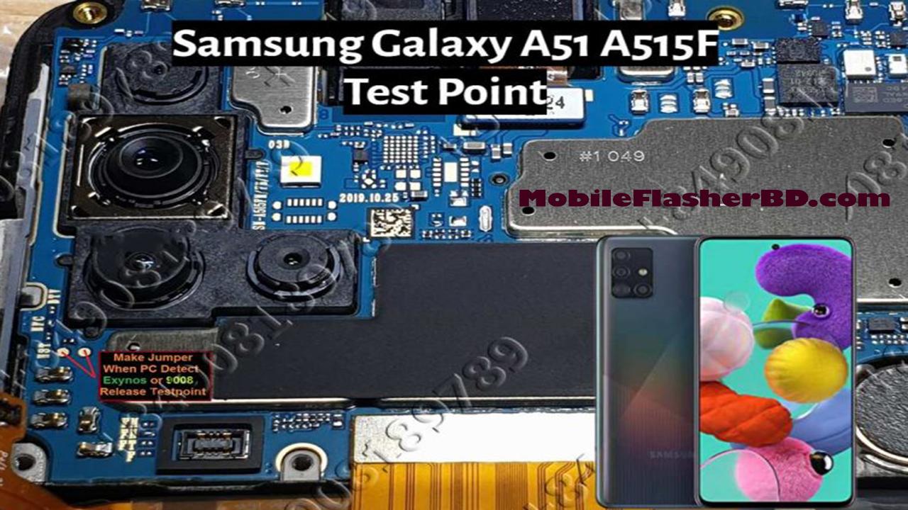 EDL Test Point  For Samsung Galaxy A51 A515F HD Quality Jumper Ways.