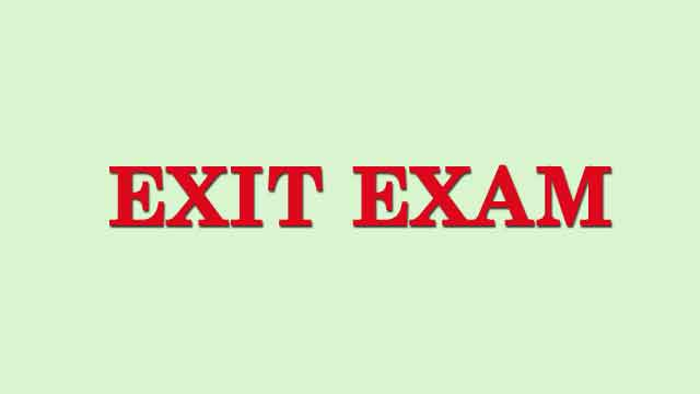 exit examination for medical students