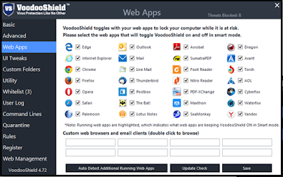 VoodooShield Pro version 5.00