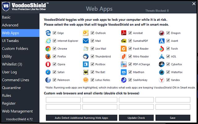 VoodooShield Pro version 5.00 - Phần mềm diệt virut thế hệ mới