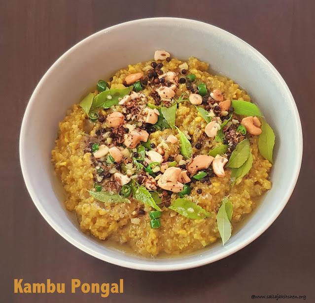 images of Kambu Pongal / Pearl Millets Pongal / Kambu Ven Pongal / Millets Pongal