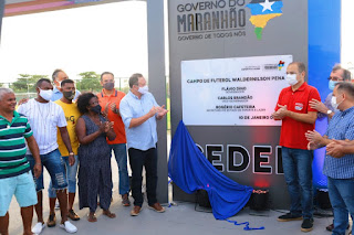 Governador em exercício, Carlos Brandão entrega Complexo Esportivo em São Luís