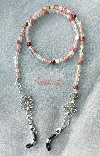 Watermelon Eyeglasses Strap with Wire Wrapped Bunga Terung