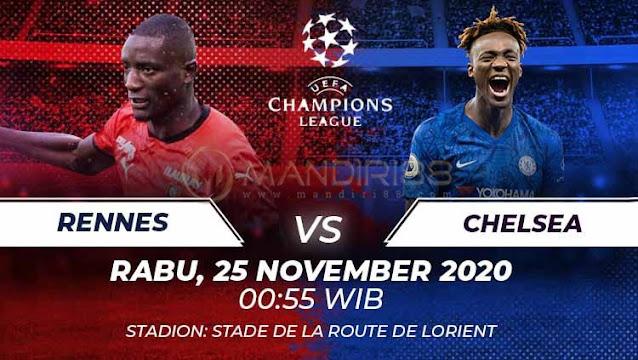 Prediksi Rennes Vs Chelsea, Rabu 25 November 2020 Pukul 00.55 WIB @ SCTV