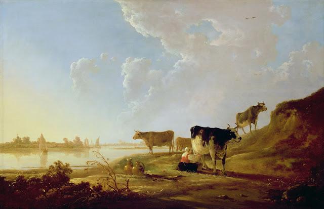 Альберт Кёйп - Коровы на берегу реки