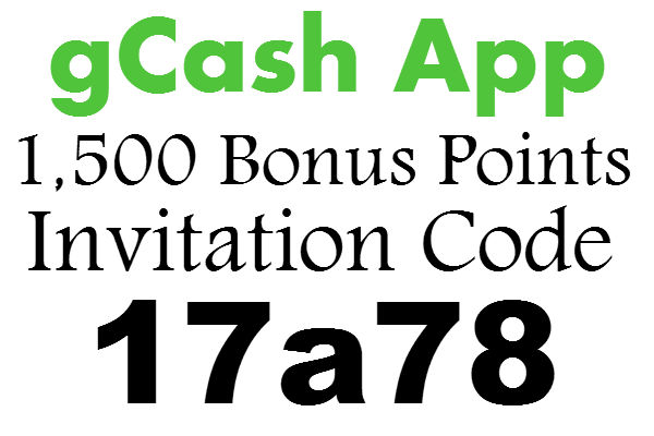 gCash Invitation Code 1,500 Bonus Points, Gcash App Referral Code, Gcash Sign up Bonus 2016-2017