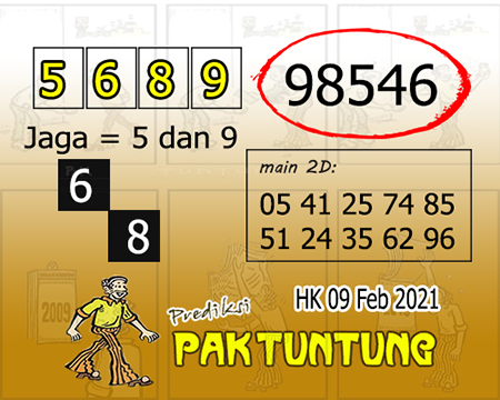 Prediksi Pak Tuntung Hk selasa 09 Februari 2021