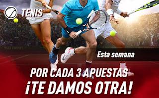sportium Promo Tenis: Por cada 3 apuestas ¡Te damos otra! hasta 20-10-2019