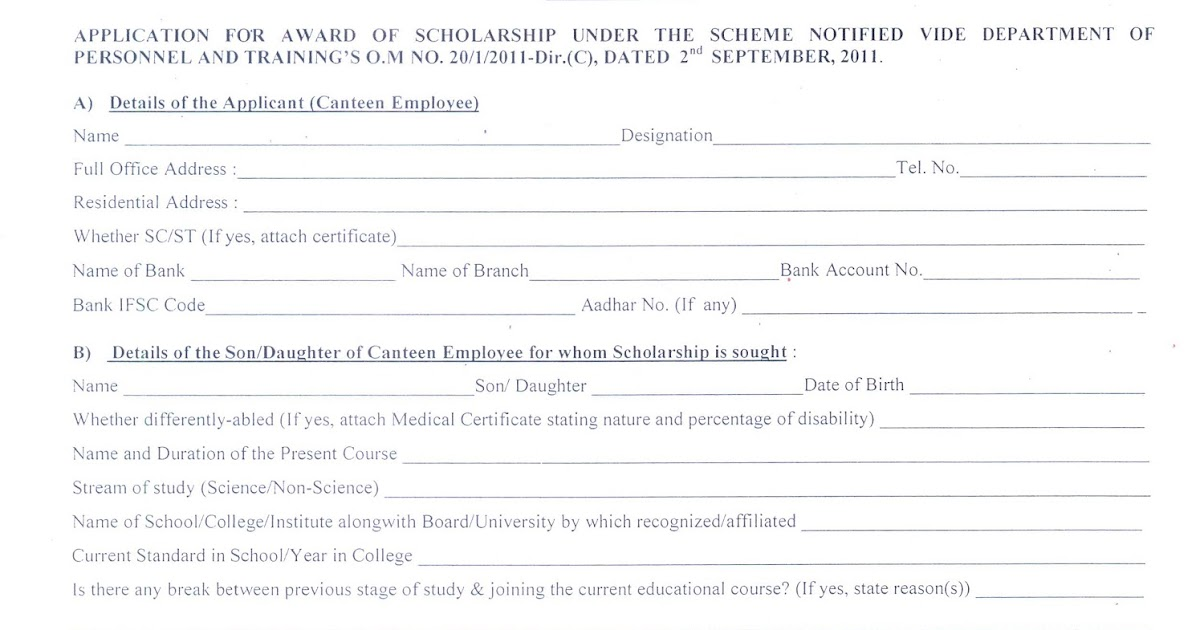 Revision of Scholarship Scheme for the Children of Non