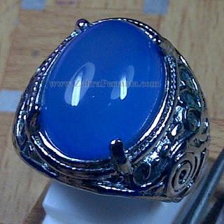 Cincin Batu Blue Chalcedony - ZP 1030