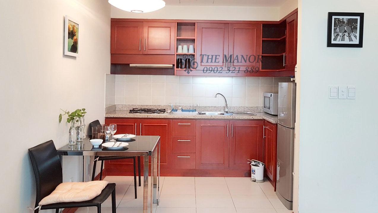 Căn hộ The Manor 2 phòng ngủ cho thuê 80m2 block F tầng thấp - hình 3