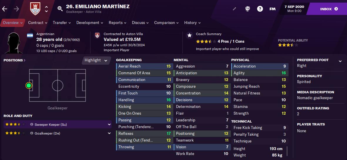 FM21 Emi Martinez