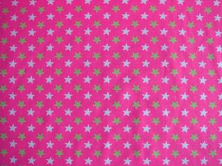 bavlna úplet hviezdičky neon