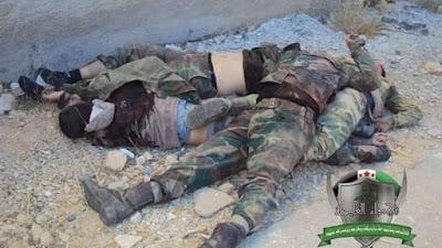 mayat pasukan assad di qudsaya damaskus