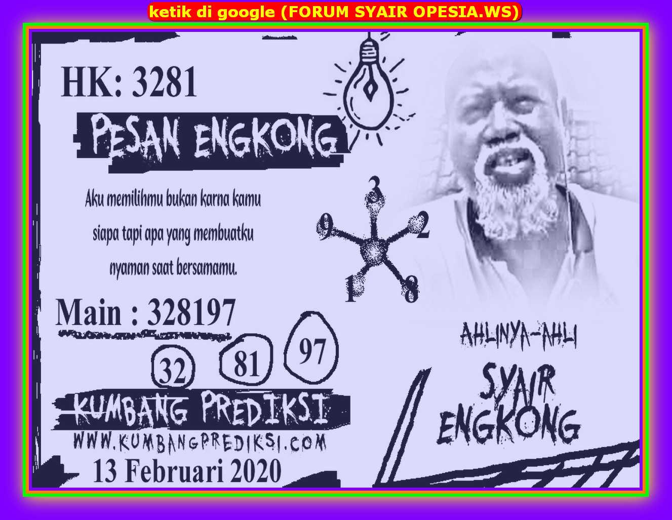 Kode syair Hongkong Kamis 13 Februari 2020 88