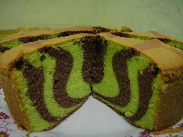 kek marble pandan jagung kukus koleksi resepi emak Resepi Kek Span Setengah Kilo Enak dan Mudah