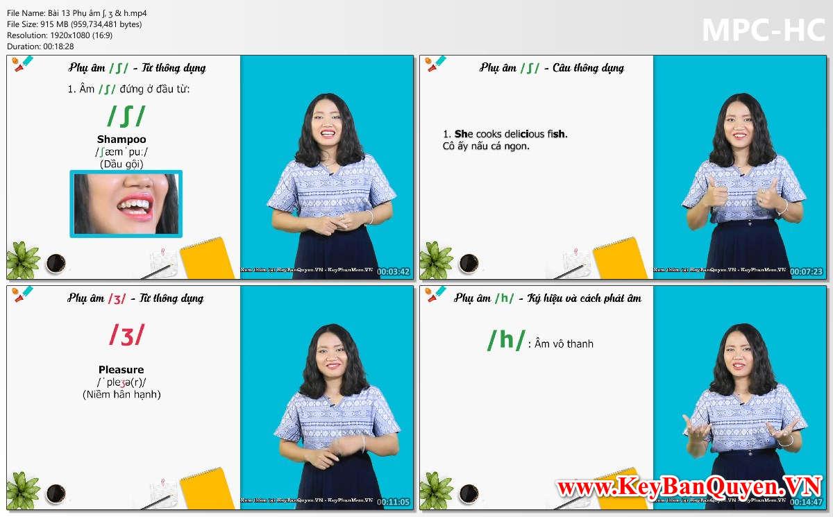 Khóa học phát âm tiếng Anh theo chuẩn IPA quốc tế.