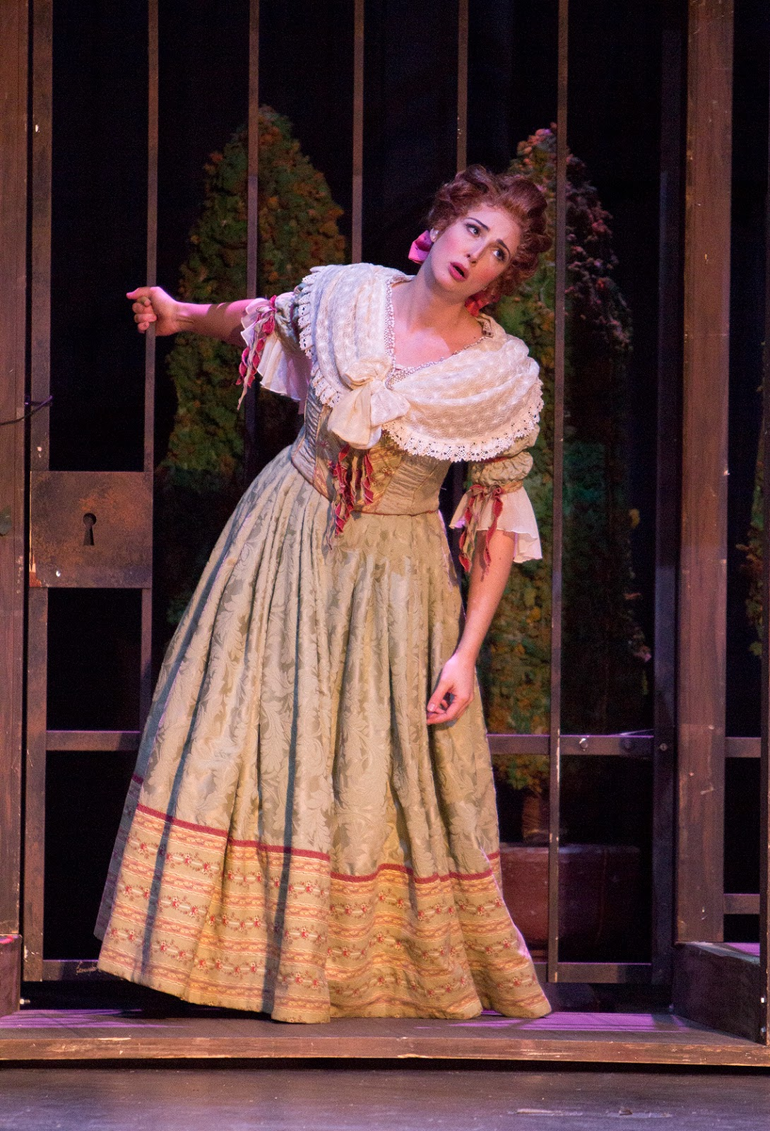 IN PERFORMANCE: mezzo-soprano CECELIA HALL as Rosina in Greensboro Opera's production of Gioachino Rossini's IL BARBIERE DI SIVIGLIA, January 2018 [Photo by Star Path Images, © by Greensboro Opera]